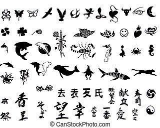 קעקע, simbols