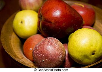 קערה של פרי, מלאכותי