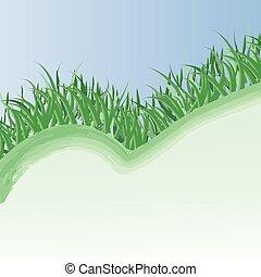 קפוץ, דשא, רקע