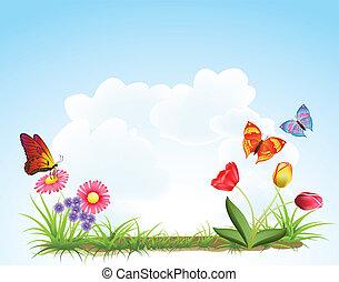 קפוץ פרחים, רקע