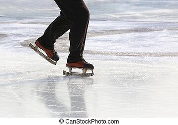 קרח, רגלים, בן אדם, חלקלקה, גלגיליות, להתגלגל