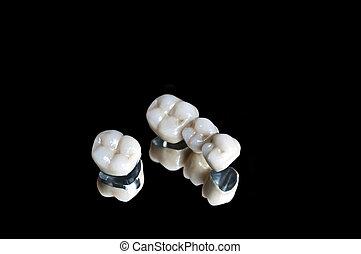 קרמי, של השיניים, כתרים