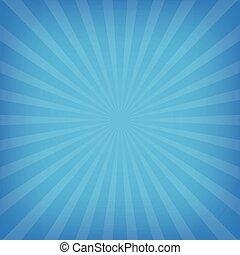 קרנות של שמש, רקע, כחול, צבע