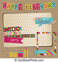 ראטרו, חגיגה של יום ההולדת, עצב יסודות, -, ל, ספר הדבקות,...
