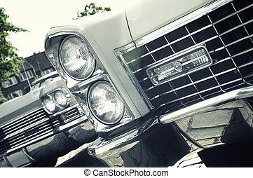 ראטרו, מכונית, -, אמריקאי, קלסי