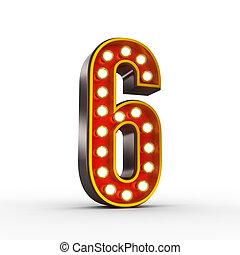 ראטרו, מספר ששה, עם, מבריק, אורות, ל, הצג