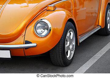 ראטרו, תפוז, מכונית