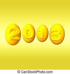 ראש שנה, 2013., זהב, 3d