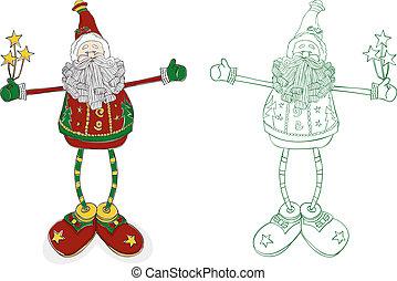 רגליים, סנטה, ארוך