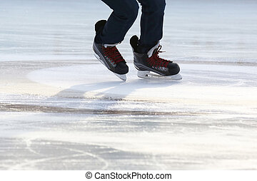 רגל, בן אדם, החלקה על קרח, חלקלקה, קרח