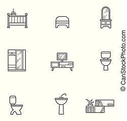 רהיטים, קבע, איקון