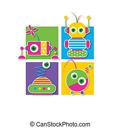 רובוטים, אוסף, כרטיס של דש