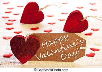 רומנטי, כנה, עם, לבבות, טקסט, שמח, יום של ולנטיינים