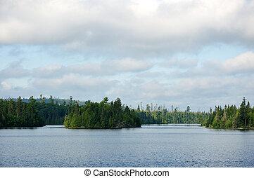 רחוק, אגם, מידבר, בוקר