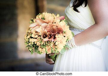 ריח, כלה, להחזיק, חתונה