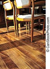 רצפה של עץ הקשה