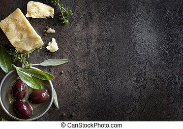 רקע, אוכל