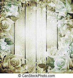 רקע, ורדים, חתונה, רומנטי, בציר