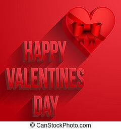 רקע, לב, שמח, יום של ולנטיינים, כרטיס