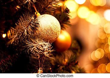 רקע מטושטש, עץ של חג ההמולד