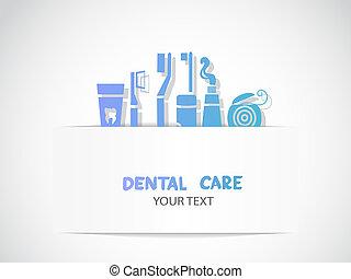 רקע, עם, זהירות של השיניים, סמלים