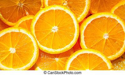 רקע, עסיסי, פרוס, עשה, תפוזים