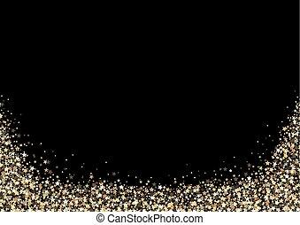 רקע, שחור, זהב, כוכבים