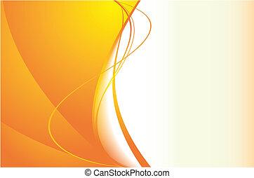 רקע של תפוז, גלים