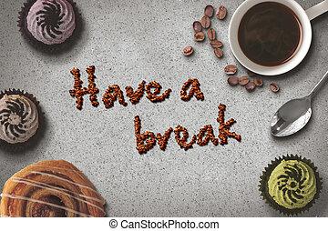 שבור, קפה