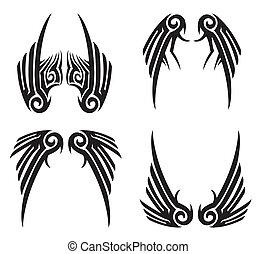 שבטי, כנפיים