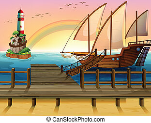 שובר גלים, סירה