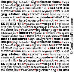 שונה, אהוב, אתה, שפות