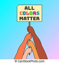 שונה, ענין, וקטור, החזק, מירוצים, אנשים, דוגמה, חתום, דירה, חריתה, אומנות, פשוט, ידיים, צבעים, כל