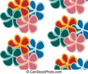 שונה, קבע, צבעוני, גדול, רקע, פרחים לבנים