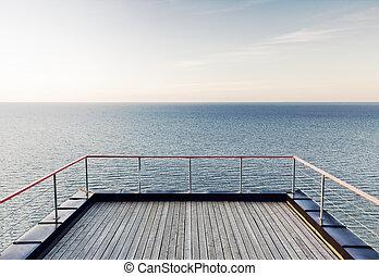 שוקט, השקפה של ים