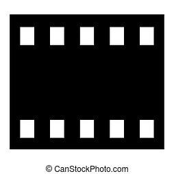 שחור, הסרט, שלילי
