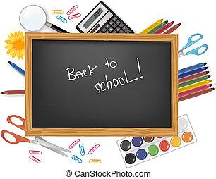 שחור, השקע, שולחן, school.