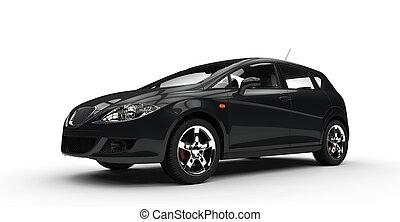 שחור, מכונית קומפקטית