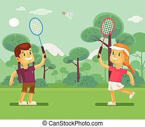 שחק, טניס, ילדים
