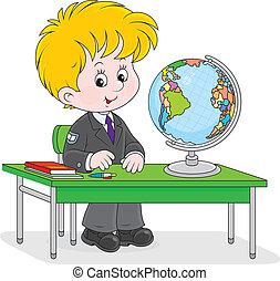 שיעור, תלמיד, גיאוגראפיה