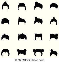 שיער, סיגנונות, קבע, איקון