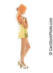 שיער של תפוז, ילדה, נחמד