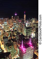 שיקגו, לילה, השקפה של אנטנה