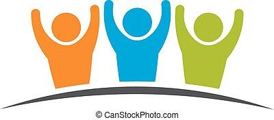 שיתוף פעולה, 3, friendship., קבץ, אנשים