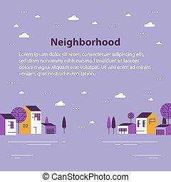 שכונה, דיורי, יפה, קטן, קטנטן, שיט בתים, כפר, כפר, הבט