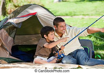 שלו, אבא, לדוג, ילד