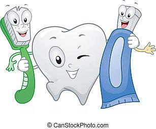 של השיניים, מוצרים