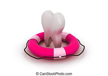 של השיניים, עזור