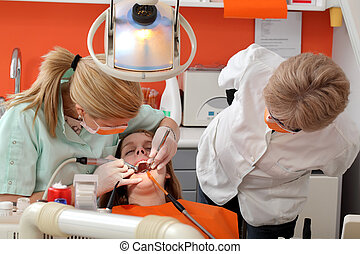 של השיניים, פרוצדורה, לקדוח, ו, להתמלא, שן