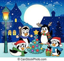 של נושא, דמות, פנגווינים, 5, חג המולד